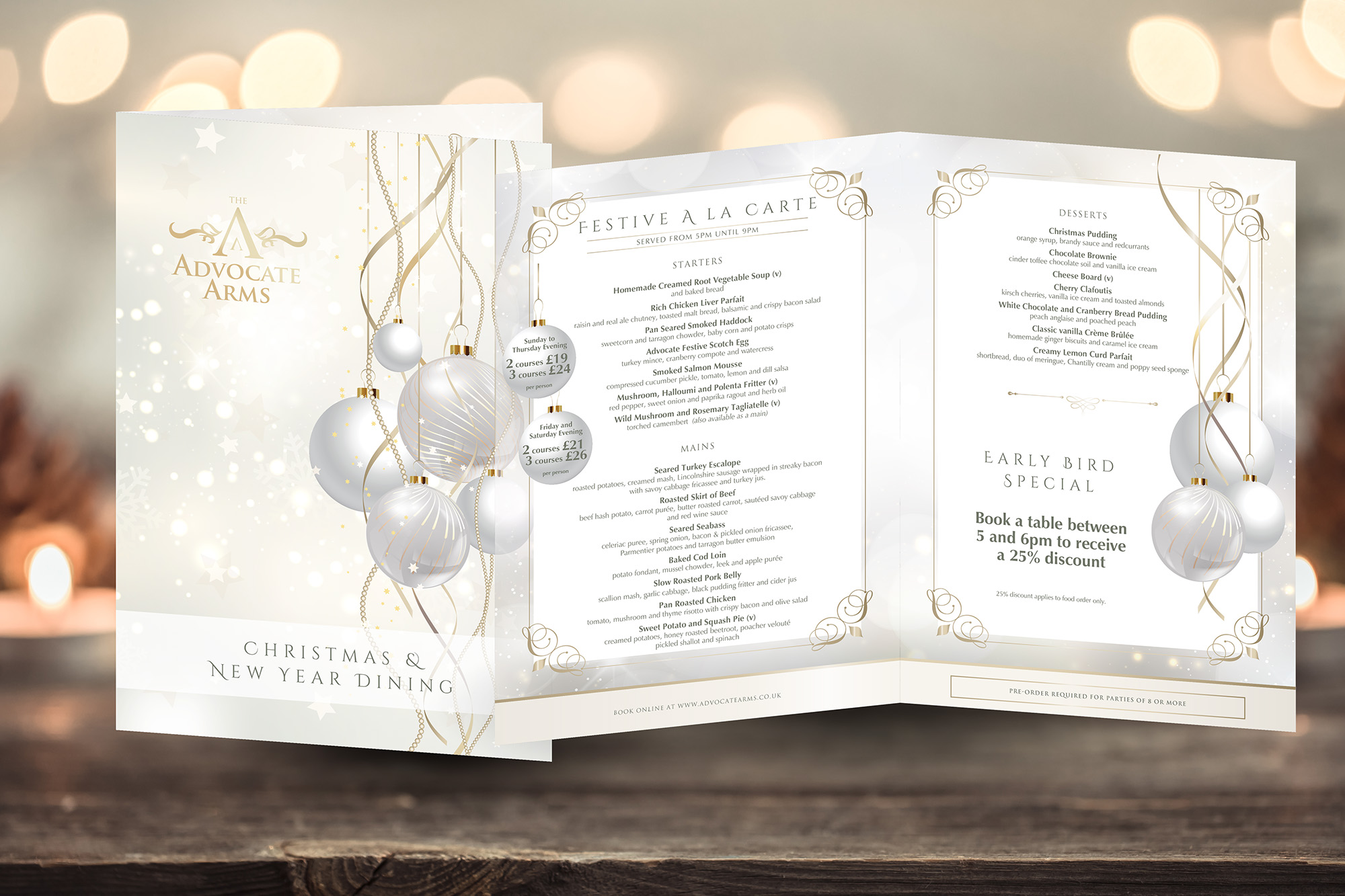 The Advocate Arms Christmas Brochure